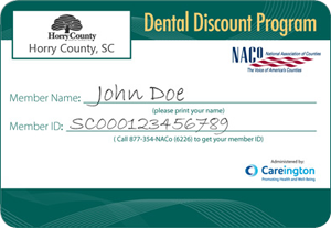 Horry County Dental Discount Card